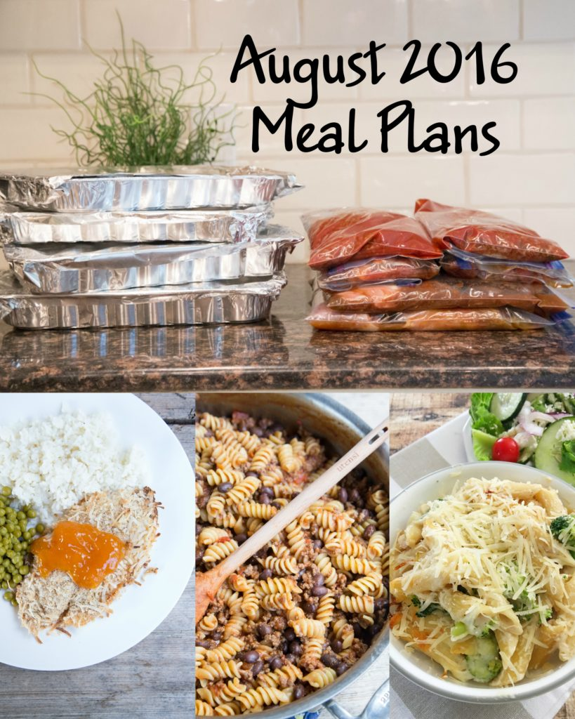 August 2016 Meal Plans MyFreezEasy