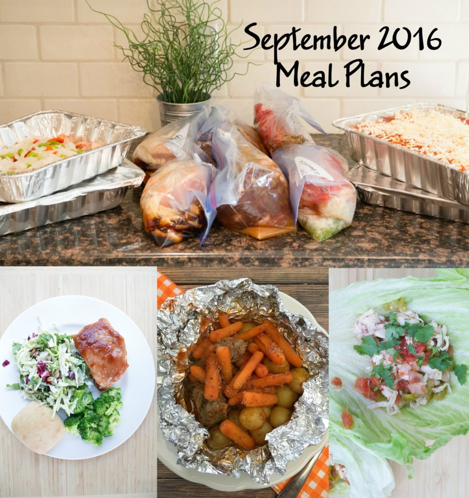 September 2016 Meal Plans