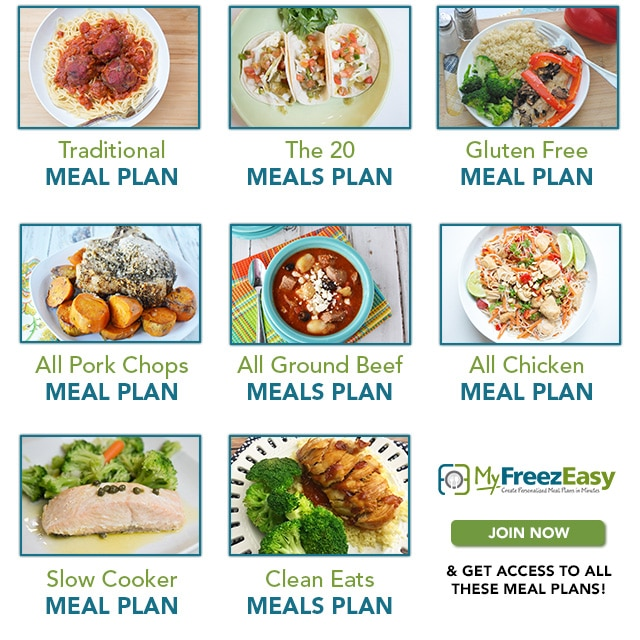 MyFreezEasy Freezer Meal Plans