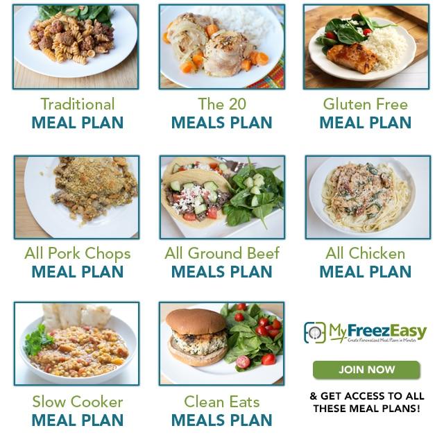 October MyFreezEasy Meal Plans