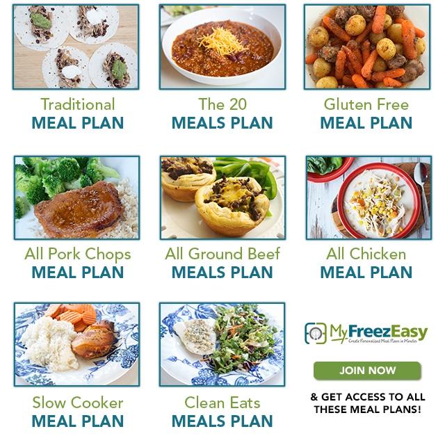 September MyFreezEasy Meal Plans