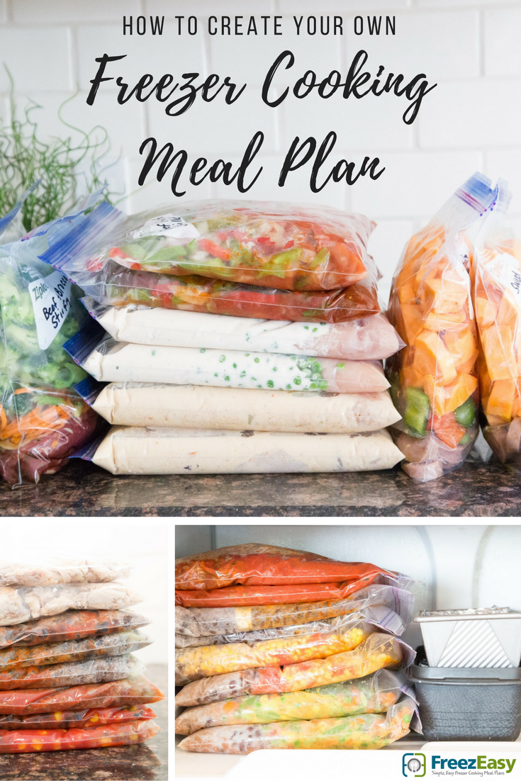 how to create your own freezer cooking meal plan