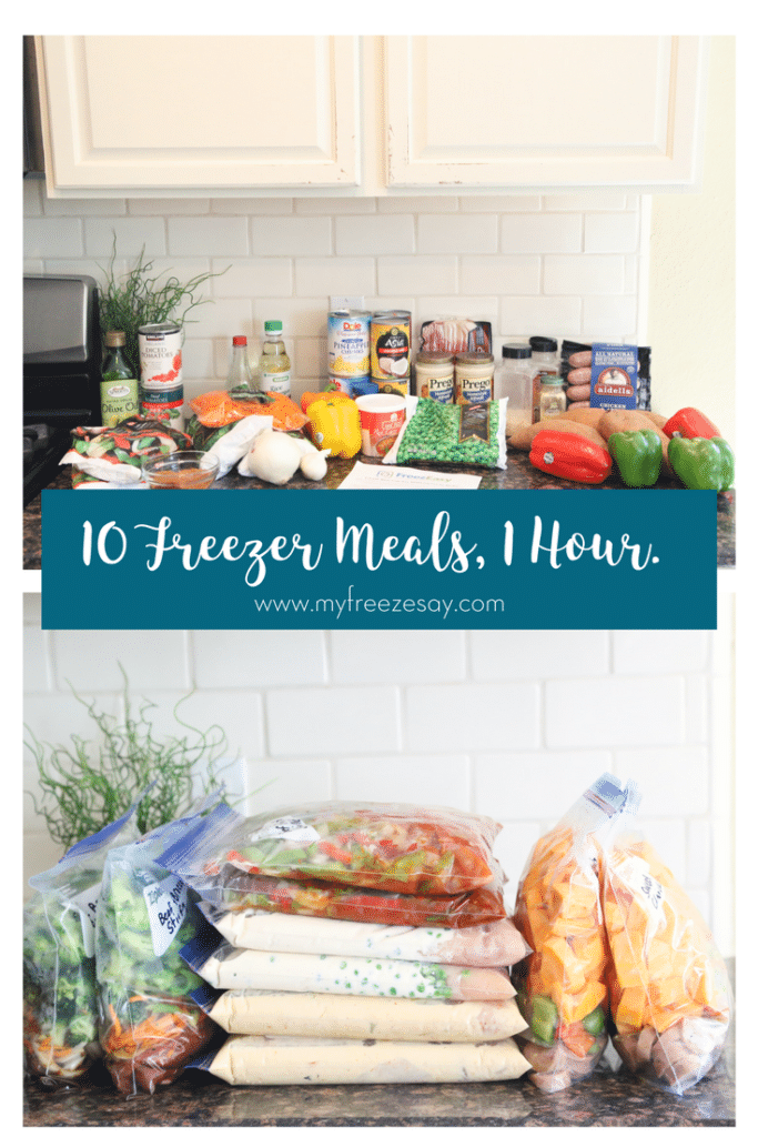 10 freezer meals in one hour