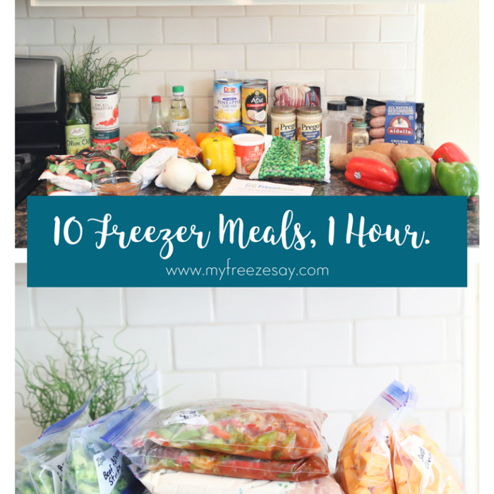 Week of Freezer Meals in Under One Hour!