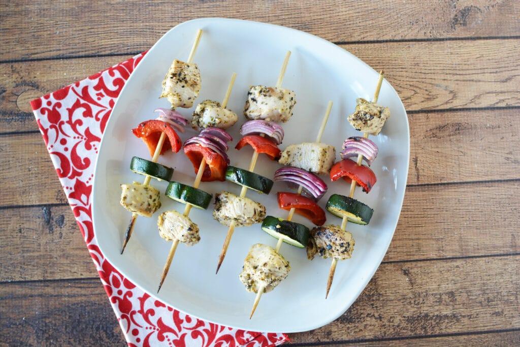 garlic chicken kebabs