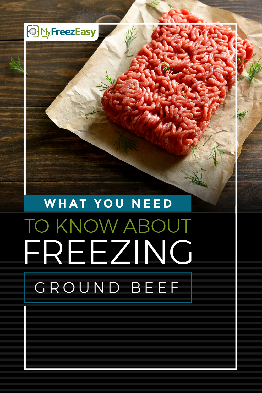 how to freeze ground beef